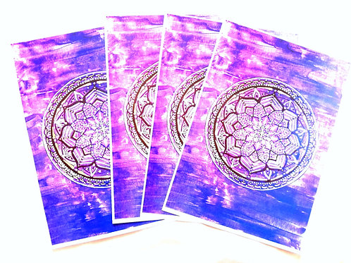 Air Mandala: A4 Print of Original Encaustic Wax Painting