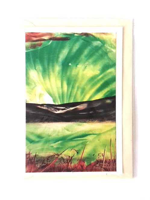Reflected Aurora: Print Greetings Card