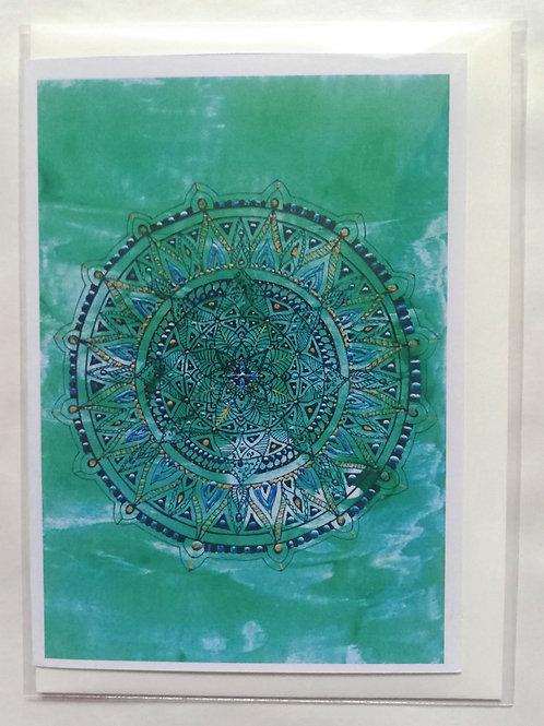 Earth Mandala: Print Greetings Card