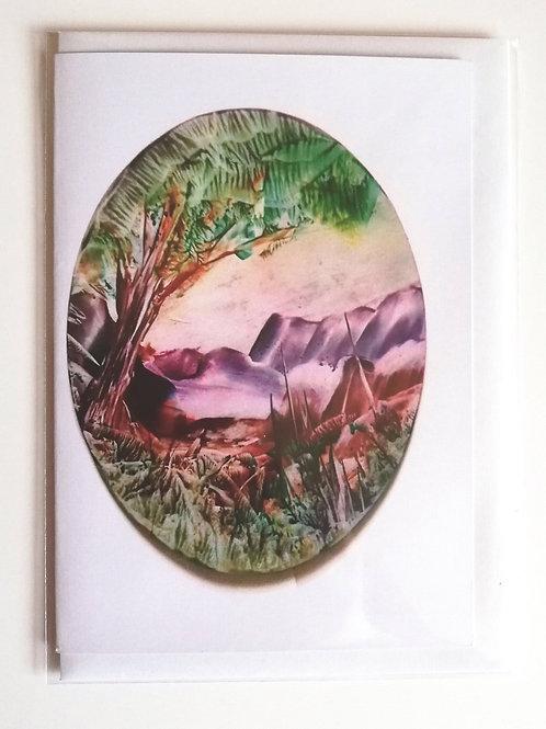 Mountain Retreat: Print Greetings Card