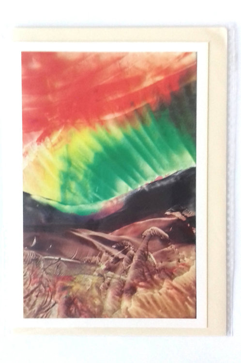 Aurora Borealis: Print Greetings Card