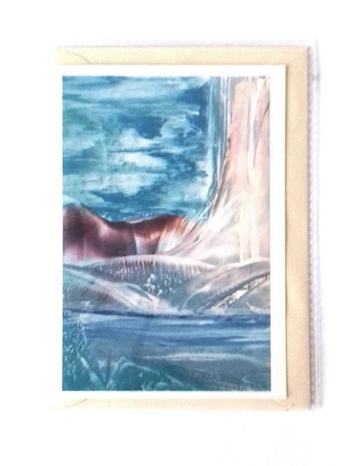 Encroaching Glacier: Print Greetings Card