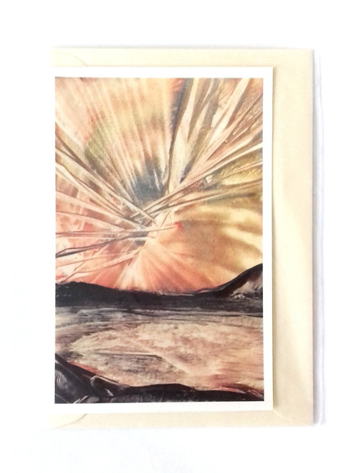Exploding Sky: Print Greetings Card