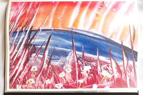 By Aurora Light: A4 Print of Original Encaustic Wax Painting