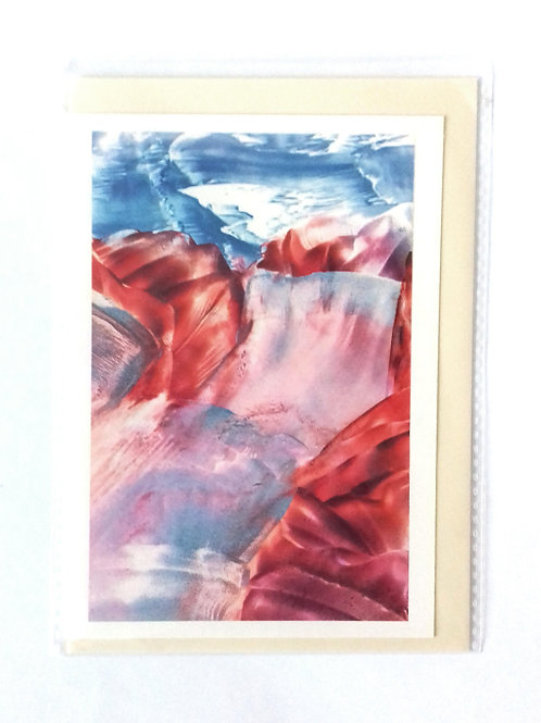 River of Ice: Print Painting Greetings Card