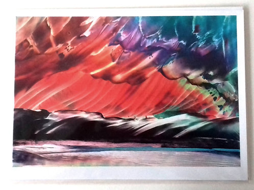 Northern cloudscape: A4 Print of Original Encaustic Wax Painting