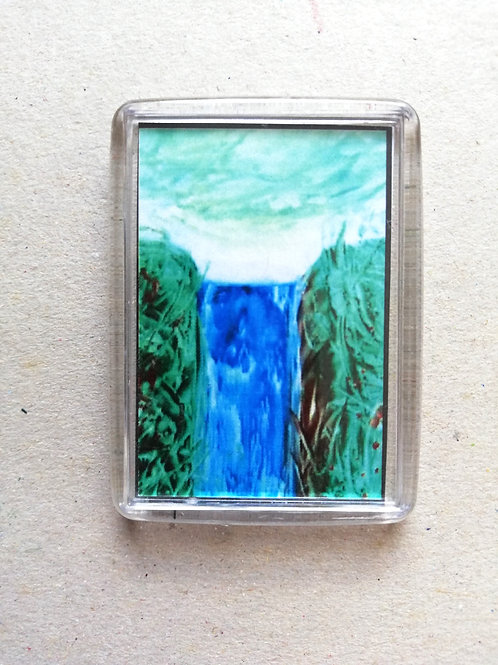 Lush Waterfall: Fridge magnet