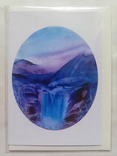 Crystal Falls: Print Greetings Card