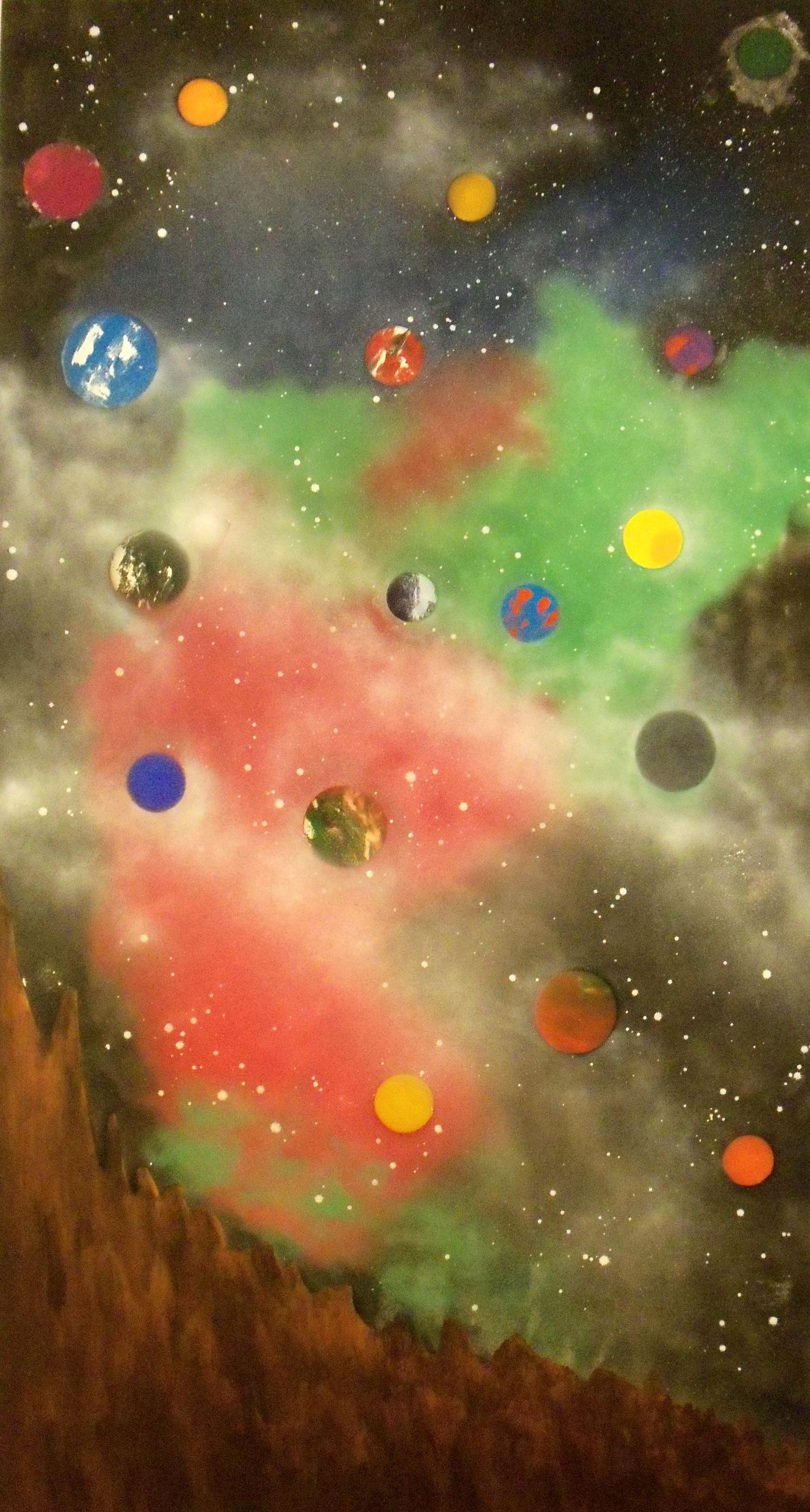 nebula of planets