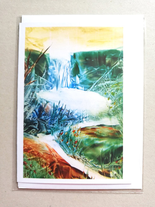 Enchanted Pool: Print Greetings Card