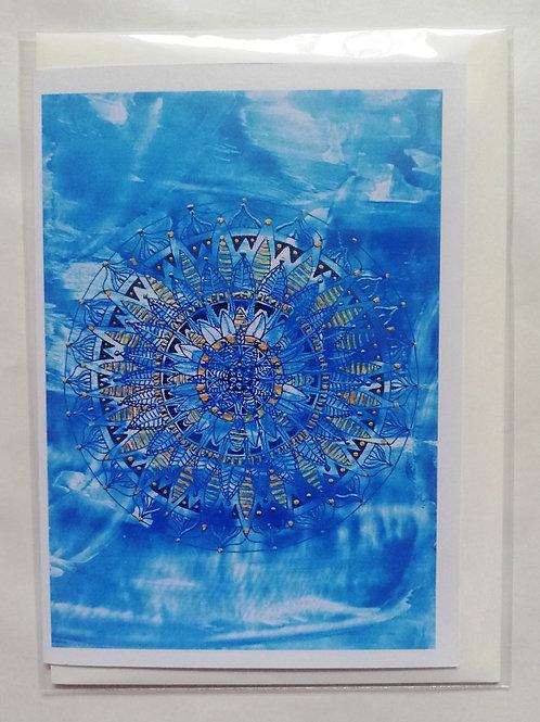Water Mandala: Print Greetings Card