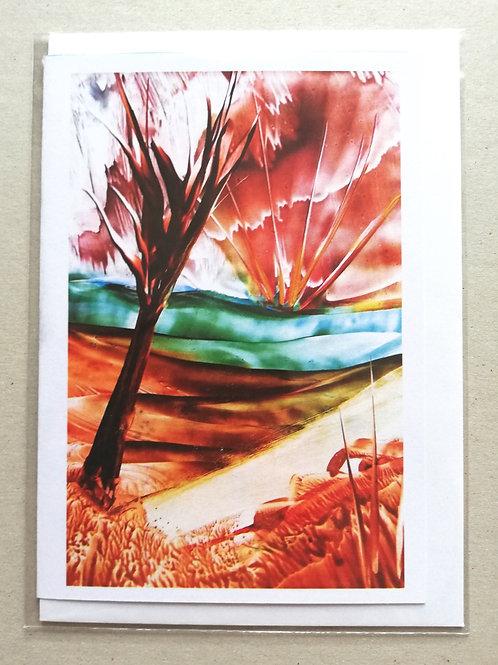 Echoing the Sky: Print Greetings Card