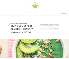 Health Food Store Landing Page