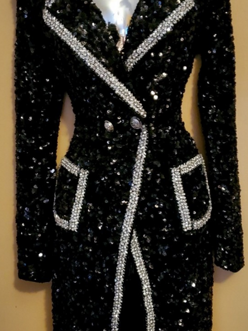 All Beaded Double Breasted Jacket