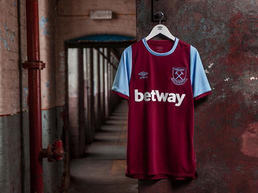 """Umbro celebra os 125 anos do Westham com uma bela camisa que resgata a tradição dos """"hammers"""""""