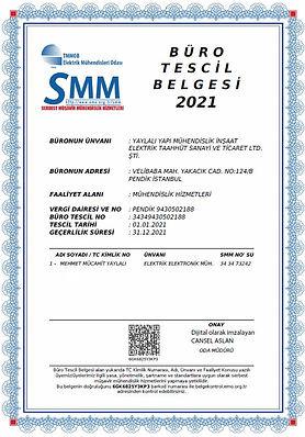 Yaylalı Yapı Mühendislik Büro Tescil SMM