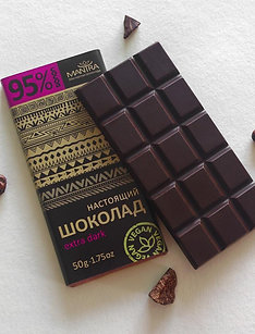 "Настоящий шоколад 95% ""extra dark"", 50 г"