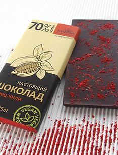 """Настоящий шоколад 70% """"перец чили"""", 50 г."""
