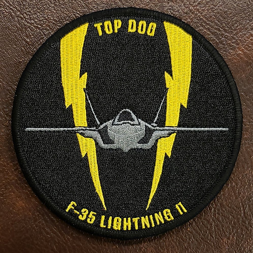 61st Fighter Squadron Top Dog F-35 Patch
