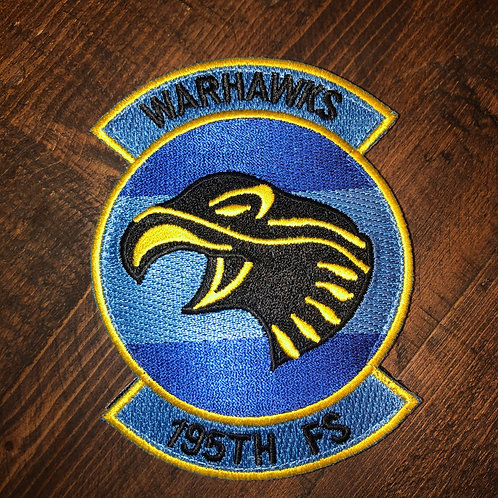 195th Fighter Squadron Official Patch