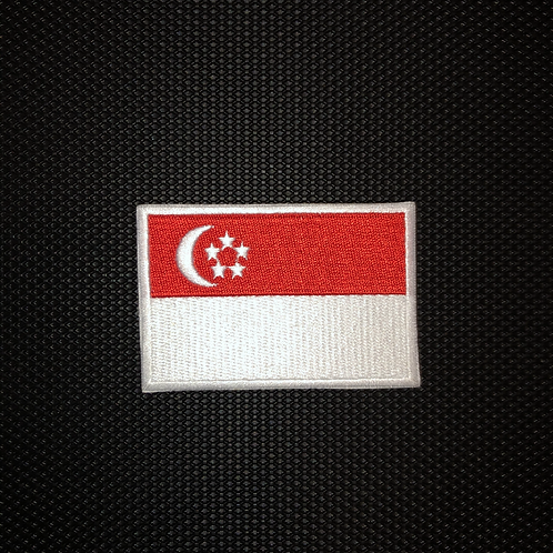 Singapore Flag Military Patch