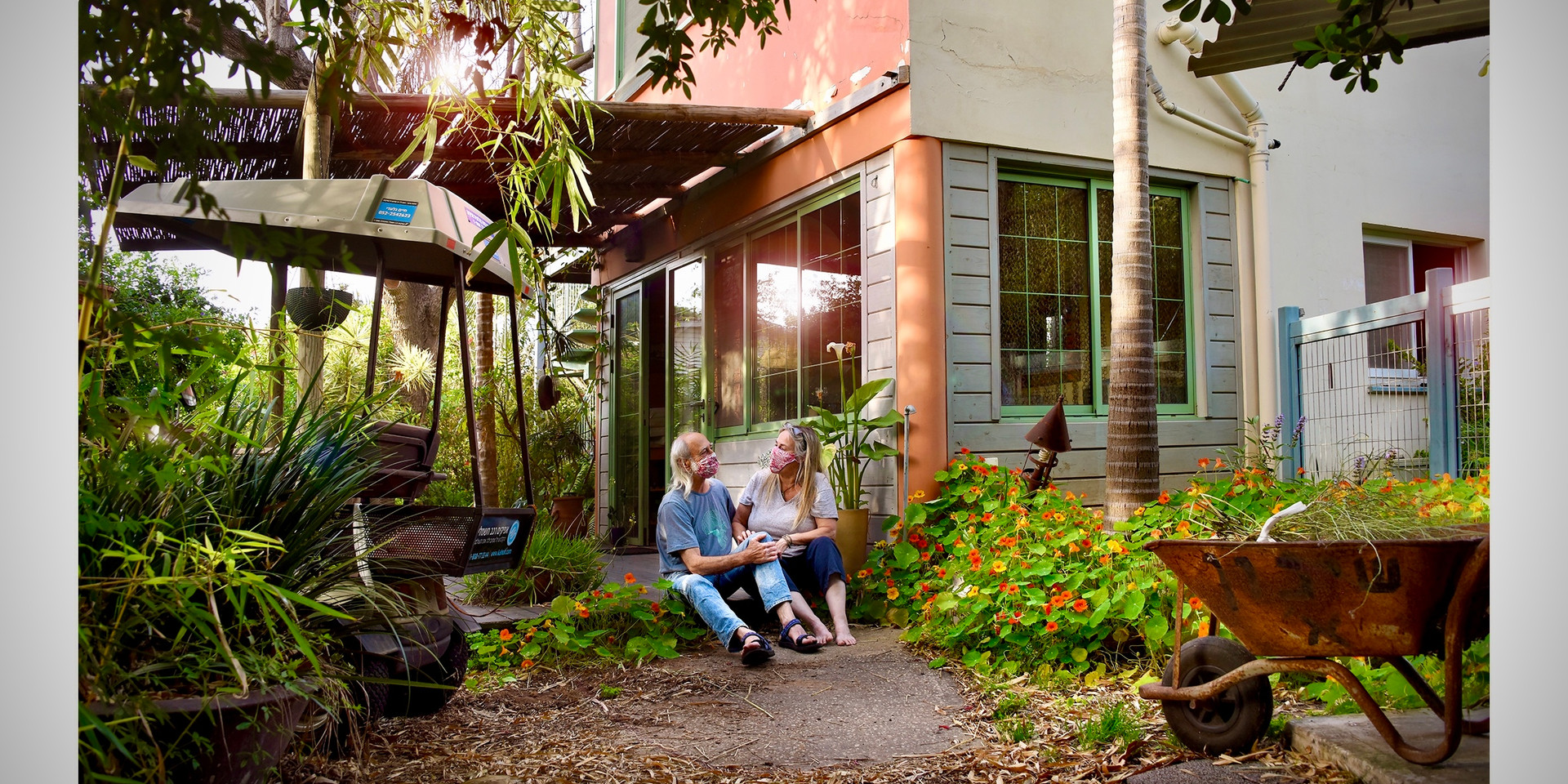 Eli & Liz Shiller at their Porch