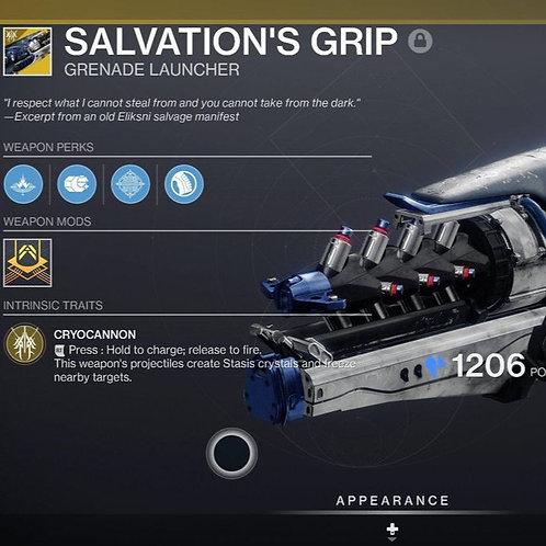 Salvation's Grip Exotic Stasis Grenade Launcher