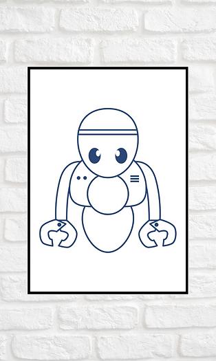 AFFICHE ROBOT A4