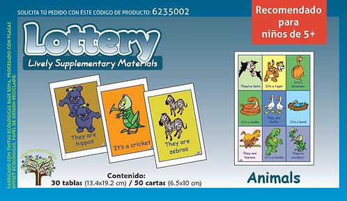 Loteria animales en Inglés recomendado para edades 5+