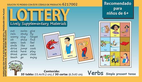 Loteria en inglés Verbos Recomendado para edades 6+