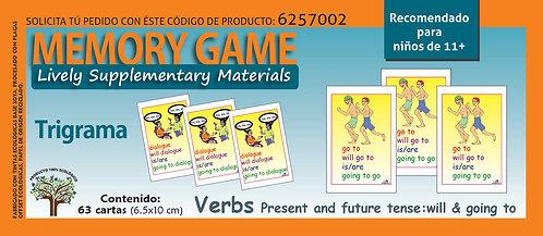 Memoramas en inglés Verbs Present and future tense: will & going to