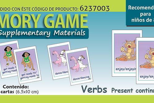 Memoramas en inglés Verbs Present continuous tense