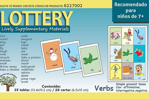 Loteria en inglés Verbos Recomendado para edades 7+