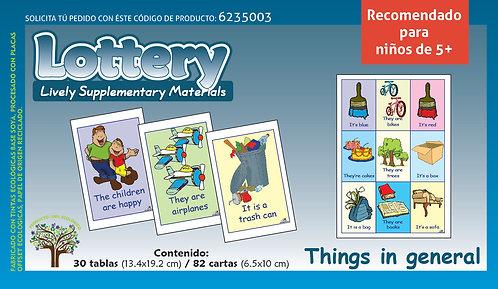 Loteria De Cosas Del Entorno En Inglés para edades 5+