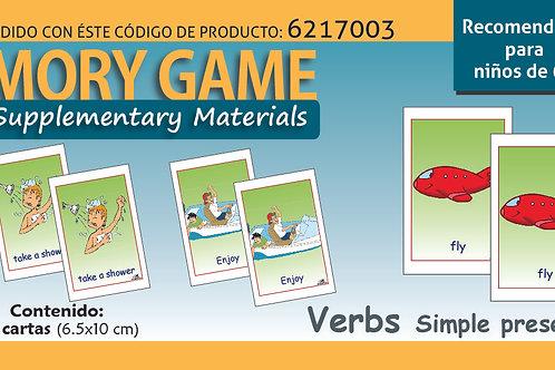 Memoramas en inglés Verbs simple present tense