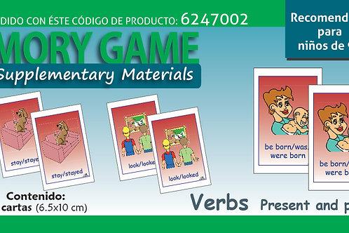 Memoramas en inglés Verbs Present and past tense