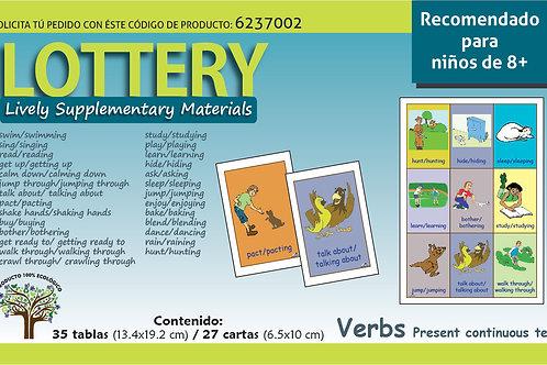 Loteria en inglés Verbos Recomendado para edades 8+
