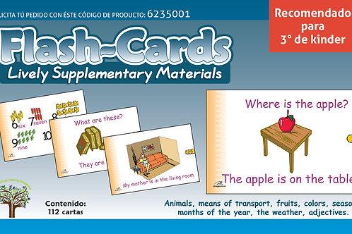 Flash-cards en inglés Recomendado Para Edades 5+