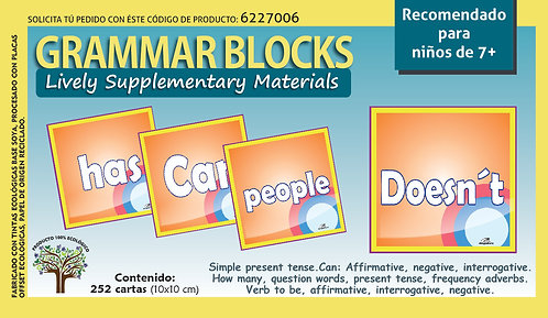 Bloques Gramaticales en inglés Recomendado Para Edades De 7+