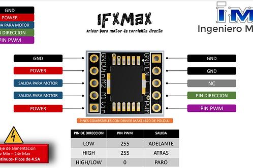 IFXMAX Driver para 1 motor de corriente directa 3A