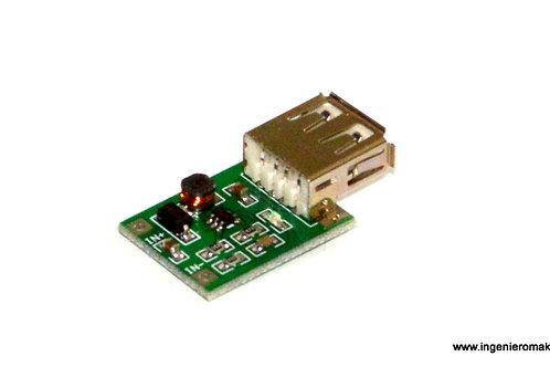 Convertidor DC-DC de tipo Boost con salida a USB