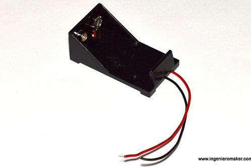 Porta pilas para batería de 9V