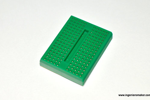 Mini Protoboard 170 puntos, color verde