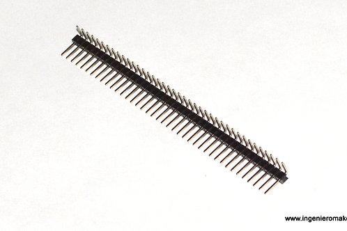 Tira de header macho a 90° separación de 2.54mm