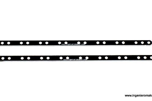 Par de soportes para barras de sensores (seguidores de línea)