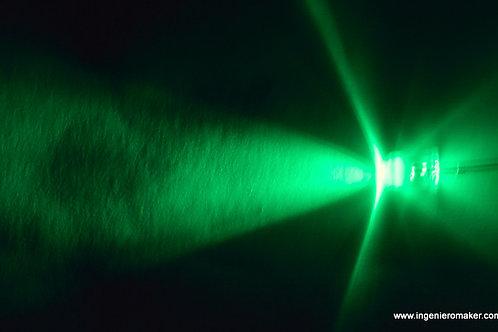 8 LEDs verdes de alto brillo de 5mm