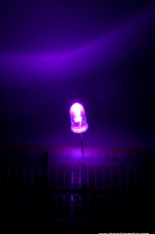 5 LEDs Rosas del alto brillo de 5mm