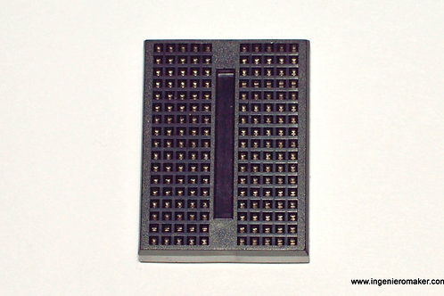 Mini Protoboard 170 puntos, color negro