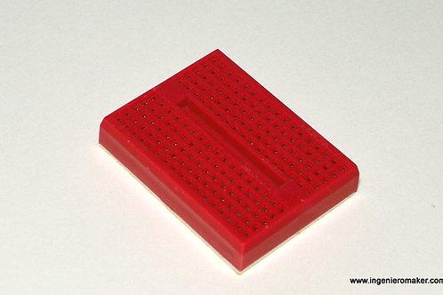 Mini Protoboard 170 puntos, color rojo