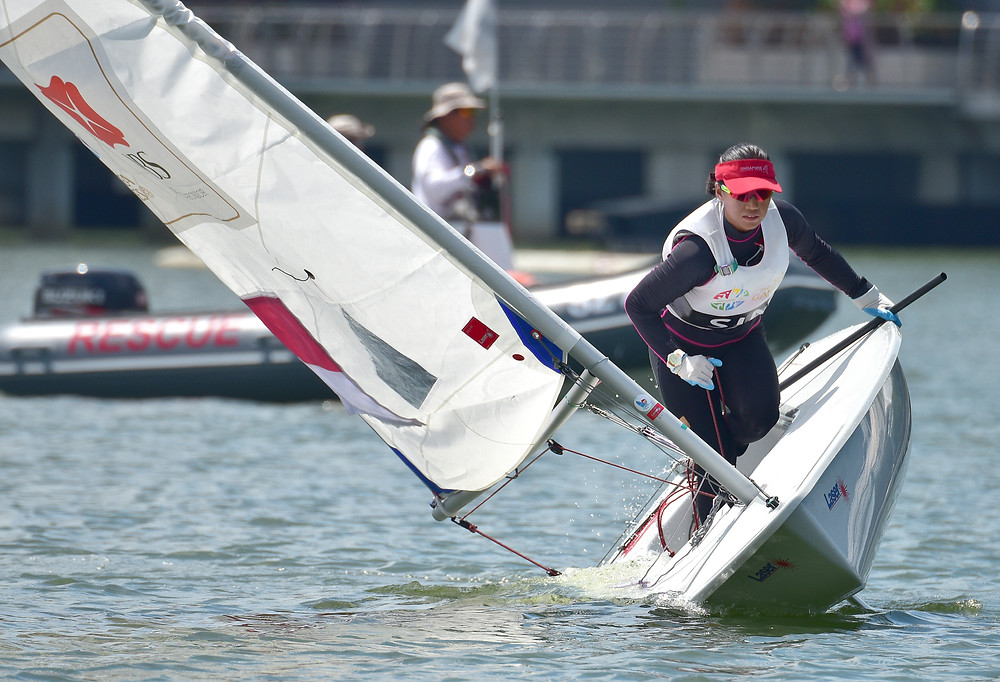 Singapore in action in the sailing events during the 28th SEA Games